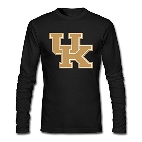 Mens Kentucky Wildcats 100  Cotton Long Sleeve T Shirt Black Us Size S