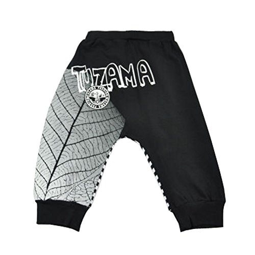 Tuzama Kids Boys Baggy Stripe Casual Loose Sporty Hip Hop Dance Jogger Pants 4-5 years Black