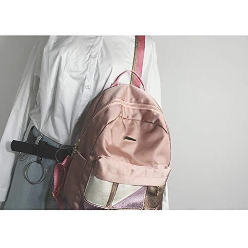 Gray Studente Qxjpz Tessuto Pink In Da Oxford Grande Dimensioni colore Zaino 25x13x31cm 47q8rY4p