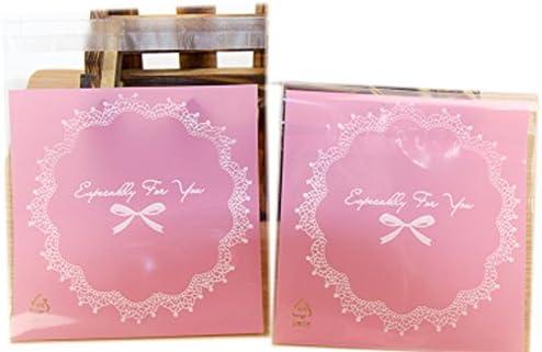 """500PCSキャラメルラッパーヌーガットキャンディーとクッキー透明ラッパー包装袋3.9""""x3.9""""、#6"""