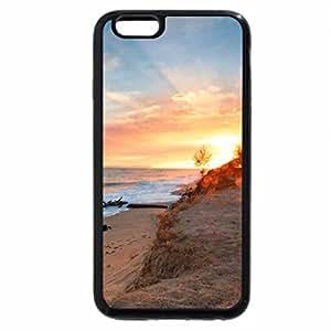 iPhone 6S Plus Case, iPhone 6 Plus Case, footprints on a beach at surise