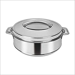 Rema – Hot Box Casserole Steel Pot Insulated Thermoware Food Storage Container with Handle, 3500ml, Capacity Approx 1.5…