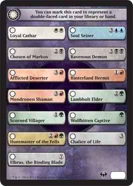 Magic: the Gathering - Dark Ascension Checklist Card - Dark Ascension by Magic: the Gathering