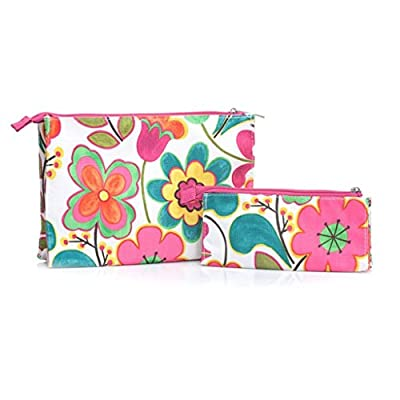 Clinique 2-pc. Flowered Cosmetic Bag Set Body Care / Beauty Care / Bodycare / BeautyCare