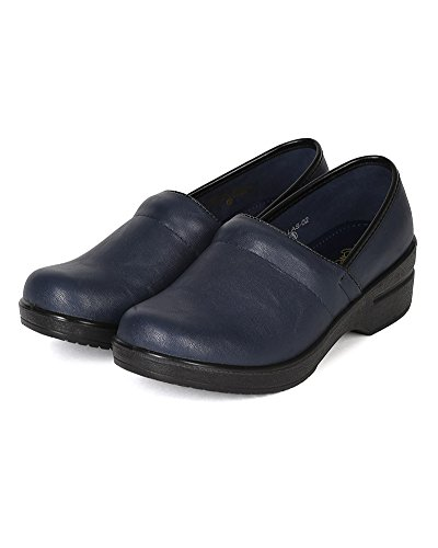 Navy Clog BH36 Refresh Round Slip On Toe Women Leatherette wwxSaq81A