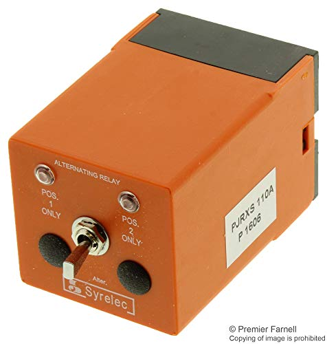 PJRXS110A - Power Relay, DPDT, 110 VAC, 10 A, JRXS Series, Socket (PJRXS110A) ()