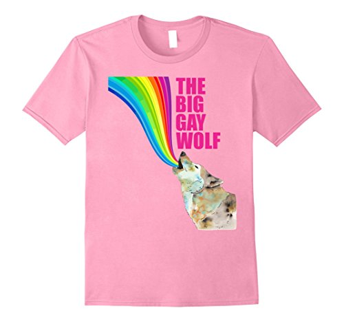 Mens The Big Gay Wolf- Easy Halloween Costume 2017 XL Pink