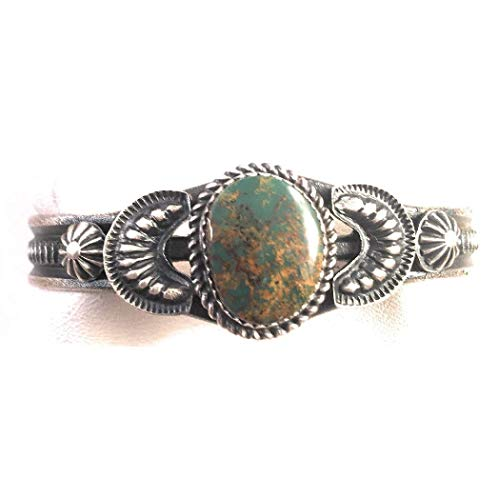 Nizhoni Traders LLC Navajo Royston Turquoise Sterling Silver Cuff Bracelet Signed ()