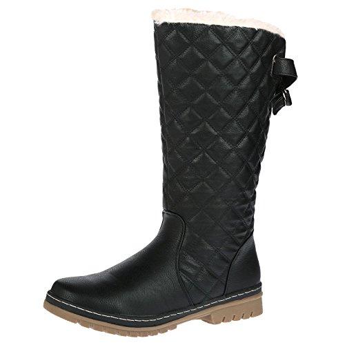 Bypublicdemand S2a Chaussures Montantes Pour Femme Imitation Fourrure Noir -