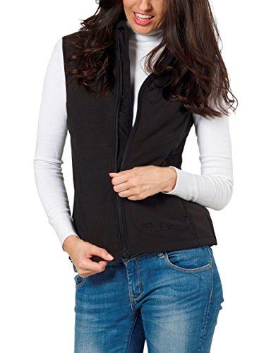 Damen Softshell-Weste Windbreaker von Fifty Five - Kanara schwarz38 - mit FIVE-TEX Membrane für Outdoor-Bekleidung