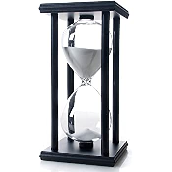Bellaware 60 Minutes Hourglass, Wood Sand Timer