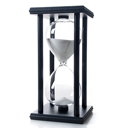 Bellaware 60 Minutes Hourglass, Wood Sand Timer (Hour Glass 1)