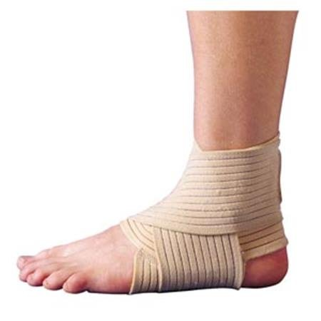 Elastic Ankle Wrap Support Brace by ScripHessco - Compression Ankle Support - Adjustable Figure 8 Wrap - Firm Support for Ankle Injuries and Pain - Breathable Fabric (Large/X-Large)