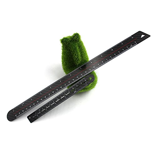 5''12''Unique Look Carbon Fiber inches Ruler - Black Fiber Lightweight Luxury Sleek Metric Ruler with inch & Centimetre for Office Professionals and Students by MEKOO (Image #5)