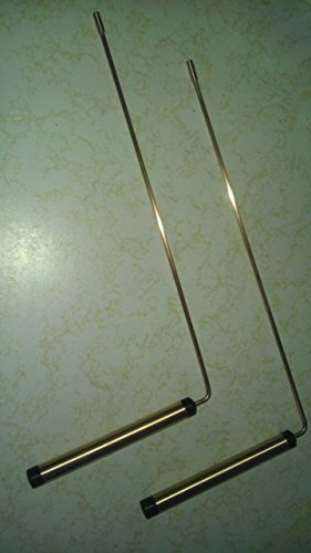 Pair of 99% Pure Copper Dowsing Rods with a Ball Bearing in Each Handle