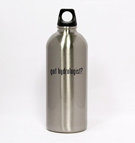 got hydrologist? - Silver Water Bottle Small Mouth 20oz
