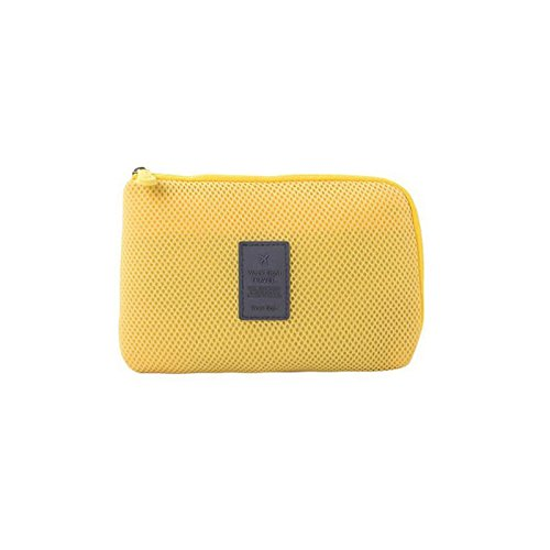 Digital Accessory Clutch - USstar Electronics Accessories Packing Organiser Storage Bag Digital Carrying Pouch Multifunction Makeup Cash Clutch Purse Smartphone Charger Headset Data Cable Case(Yellow)