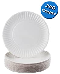 "Nicole Home Collection White Everyday Dinnerware 9"" Paper Plate, 200 Count. Designed for all occasions, banquets, parties, upscale catering and home. Disposable."