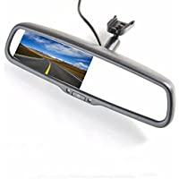 KOEN KS0943 4.3 Rearview Mirror Monitor LCD Auto Adjusting Brightness Car Rearview back up Mirror Monitor Screen for Rear View License Plate Backup Camera for Most Car Model