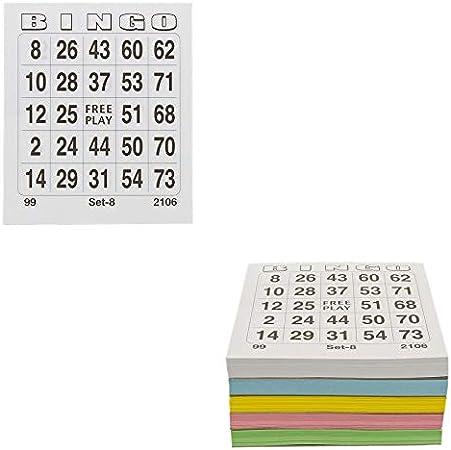 Incroyable Les Colis Noirs LCN - Set de 500 Cartes de Bingo - Carte Carton VY-19