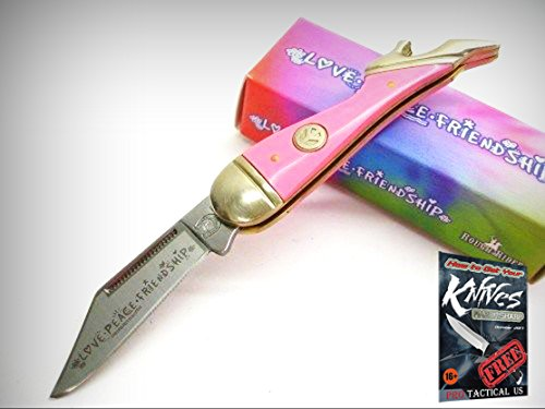 ROUGH RIDER Pink Small Mini LADY LEG Straight Folding Pocket Knife 0011376 New! + free eBook by ProTactical'US -