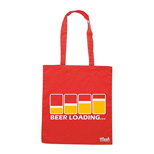 Borsa Beer Loading - Rossa - Funny by Mush Dress Your Style