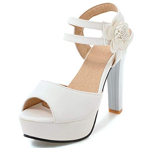 SaraIris Women's Platform Sandals Cute Flower High-Heeled Party Wedding Open Toe Ladies Sandals Pump Shoes