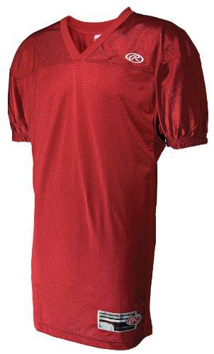(Rawlings Boys' Yfj9055Fi Football Jersey (Scarlet, Large))
