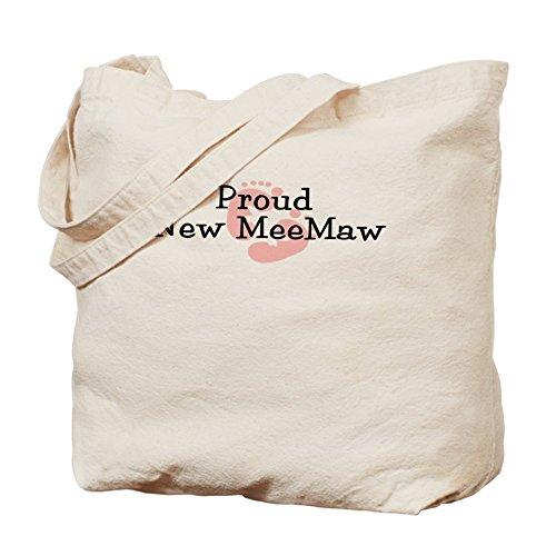 CafePress–orgullosa nueva Meemaw G–Gamuza de bolsa de lona bolsa, bolsa de la compra
