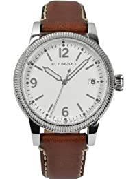 Burberry White Dial Tan Leather Ladies Watch 7823
