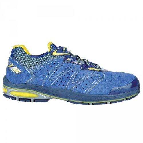 Zapato de seguridad S1P Src Grubber Cofra zapatos de trabajo deportivo azul zapatos de seguridad amarillo negro