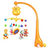 Hugine Multifunctional Infant Mobile for Crib,Musical Crib Toys Baby Kids Crib Mobile Bed Bell Sound Toys