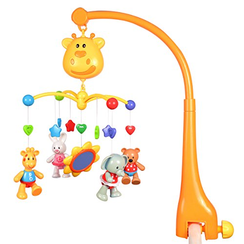 Hugine Multifunctional Infant Mobile for Crib,Musical Crib Toys Baby Kids Crib Mobile Bed Bell Sound Toys