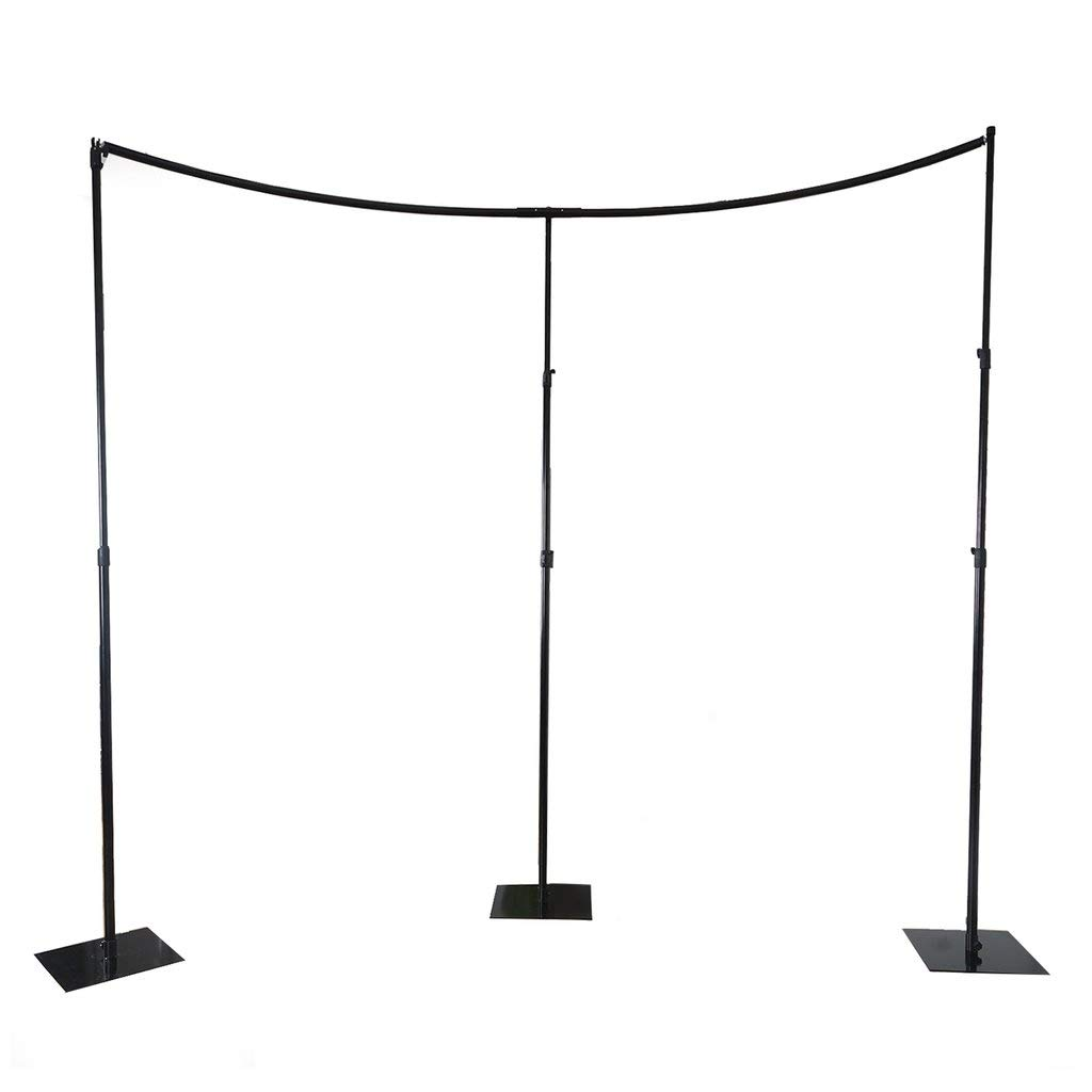 BalsaCircle 11 feet Heavy Duty Adjustable Curved Pipe and Drape Kit Backdrop Support Stand - Wedding Ceremony Photo Booth Studio Photography Party Supplies