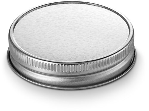 KooK Mason Jar Lids Regular Mouth, Leak Proof and Secure, Red, Gold, Silver, White, 16 pack (Silver) by KooK (Image #1)
