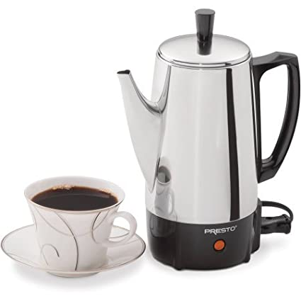 .com: presto 02822 6-cup stainless steel coffee maker, 2822 ...
