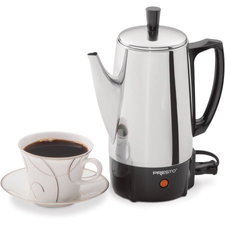 Presto 02822 6-Cup Stainless Steel Coffee Maker, 2822, Silver