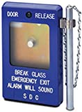 SDC 490 Series Emergency Break Glass Station with Siren, 3-1/2'' Width x 5-1/2'' Height x 1-3/8'' Depth, Blue (Pack of 1)