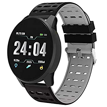 Reloj Inteligente Gris/Negro SmartWatch Chrono Apple Android ...
