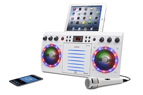 Akai KS303W-BT Bluetooth CD&G Karaoke System, White