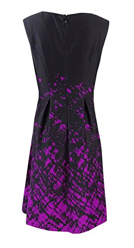 Nine West Womens Ink Splatter Printed Ponte Dress Gypsy Combo