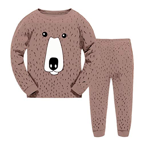 Babytree Kids Toddler Clothes Cartoon Brown Bear Costume 100% Cotton Pajamas ()