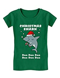 Christmas Shark Doo doo Ugly Sweater Toddler/Kids Girls' Fitted T-Shirt