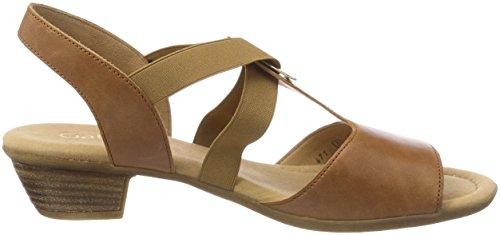 Gabor Shoes Comfort Sport, Sandali con Cinturino Alla Caviglia Donna, Marrone (Peanut), 42.5 EU