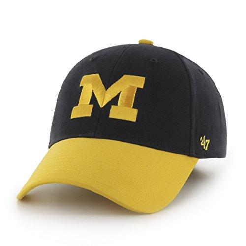 NCAA Michigan Wolverines Kids Short Stack '47 MVP Adjustable Hat, Infant, Navy