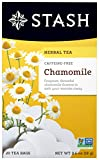 Stash Tea Chamomile Herbal Tea, 20 Tea Bags Per Box, Premium Herbal Tisane, Sweet Soothing Herbal Tea, Enjoy Hot or Iced