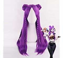 Ani·Lnc Anime Cosplay Wig Long Blue trenzado de pelo sintético ...