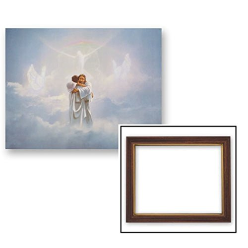 Gerffert Collection Homecoming Religious Framed Inspirational Print, 13 Inch (Wood Tone Finish Frame) by Gerffert Collection
