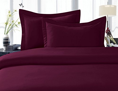 Elegant Comfort 1500 Thread Count Wrinkle,Fade and Stain Resistant 4-Piece Bed Sheet set, Deep Pocket, HypoAllergenic - Queen Purple