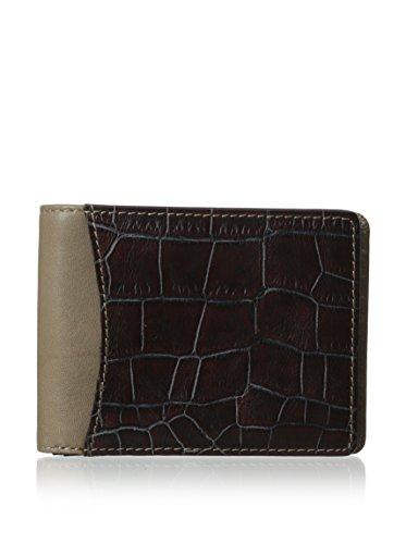 Bosca Croco - 8 Pocket Deluxe Executive Wallet Wallets Gray/Brown